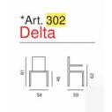 Sedia Ufficio Delta Art. 302 - La Seggiola