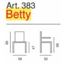 Poltroncina Ufficio Betty Art. 383 - La Seggiola