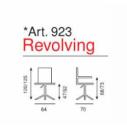 Sedia Ufficio Revolving Art. 923 - La Seggiola
