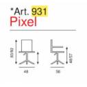 Sedia Ufficio Pixel Art. 931 - La Seggiola
