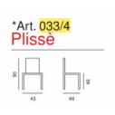 Sedia trasparente modello Plissè -Art. 033/4- La Seggiola
