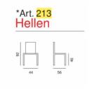 Sedia Hellen - Art. 213- La Seggiola