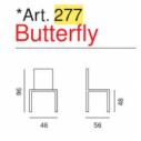 Sedia Butterfly Art. 277  - La Seggiola