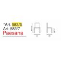 sgabello in legno Art. 583/6 - Paesana h. 62- La Seggiola