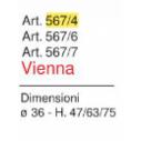 Sgabello Vienna Art. 567 - La Seggiola