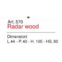 Sgabello Radar Wood Art. 570  - La Seggiola