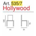 Art. 535/7 - Hollywood Sgabello H. 75- La Seggiola