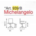 Sedia Ufficio Michelangelo con braccioli Art. 939/B - La Seggiola