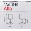 Art. 949/B - Alfa con braccioli - La Seggiola