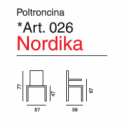 Poltroncina legno Nordika - Art. 026- La Seggiola