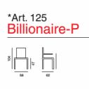 Poltrona Billionaire Art. 125  - La Seggiola