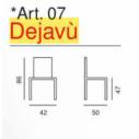 Sedia Dejavù - Art.07- La Seggiola