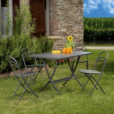 Tavolo Giardino Folding Table Linea Out-Metal richiudibile Art. 1805/16 - La Seggiola