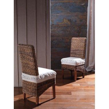 Sedia Giardino Resort Chair etnica in banano Art. 1820/1 - La Seggiola