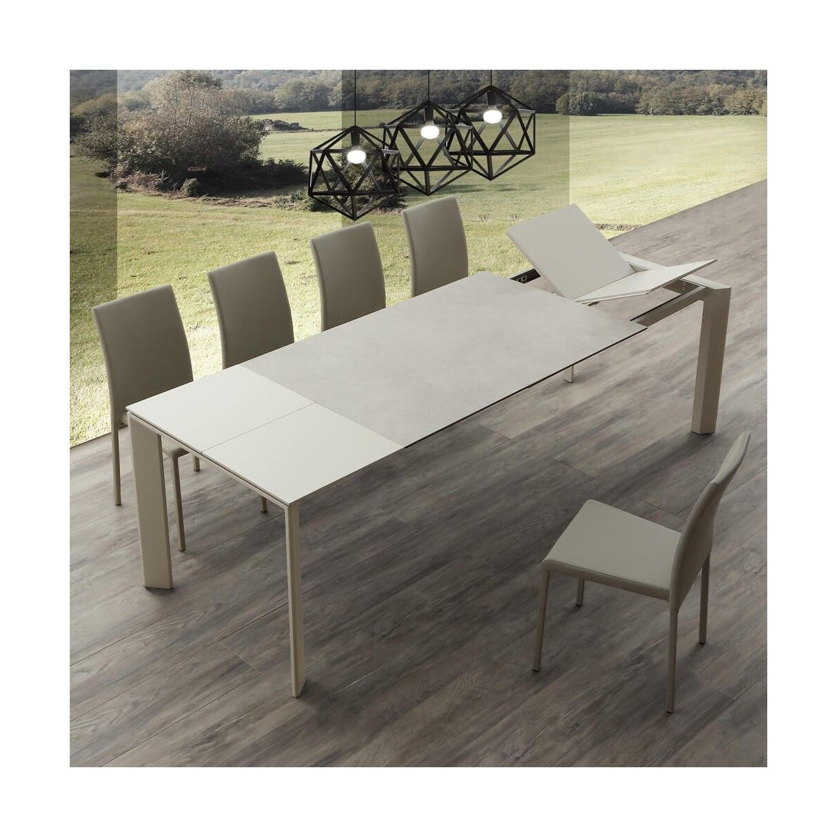 Tavolo Cucina Allungabile Prezzi.Tavolo Allungabile Ceramique Duo Art 637 La Seggiola Miglior Prezzo