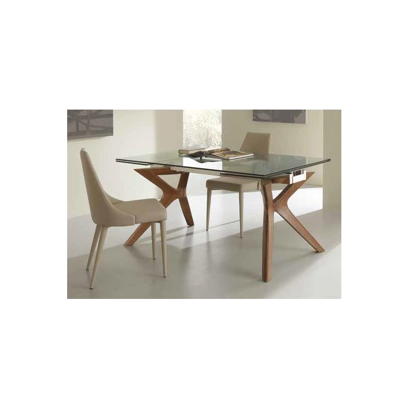 Tavolo Palladio Vetro Art. 651 - La seggiola