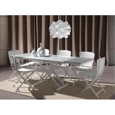 Tavolo Happening trasformabile in cristallo Art. 764 - La Seggiola